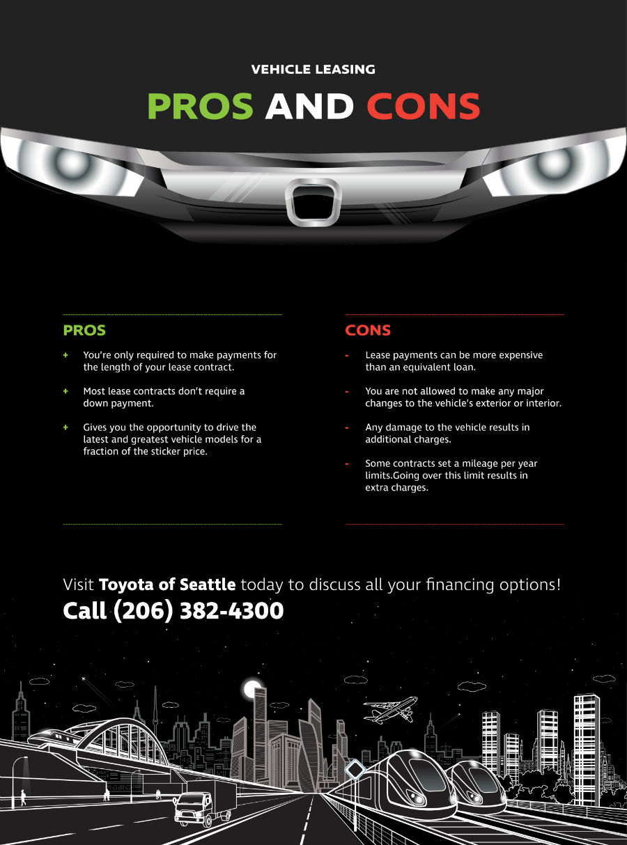 The pros and cons of leasing your vehicle toyota of seattle blog pros and cons of vehicle leasing platinumwayz